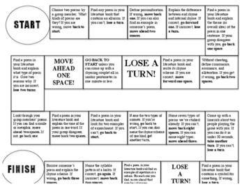 Poetry Review Board Game