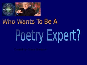 """Poetry Review """"Who Wants to Be a Millionaire?"""""""