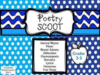 Poetry Scoot – Infer & Draw Conclusions on structure and e