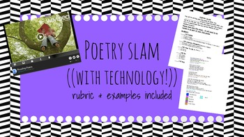 Poetry Slam Project (Including Rubric/Examples) Common Cor