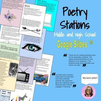 Poetry Stations : For High School and Middle School English by The Crazy English Teacher