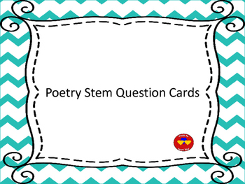 Poetry Stem Question Cards