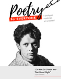 """Poetry Study Guide- """"Do Not Go Gentle Into That Good Night"""