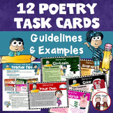 Poetry Task Cards (12 total)