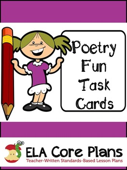 Poetry Task Cards~ Use as Literacy Center! Upper Elementar