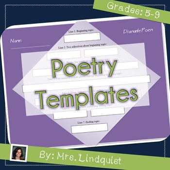 Poetry Templates - Guides for Students Learning to Write Poetry