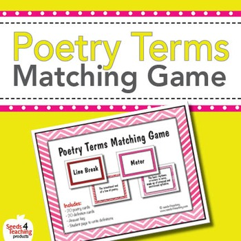 Poetry Terms Matching Game