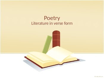 Poetry Terms Powerpoint Presentation
