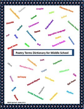 Poetry Terms and Related Activities for Middle School