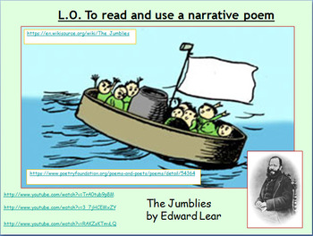 Poetry - 'The Jumblies' analysis and comprehension (Grades 2-5)
