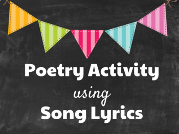 Poetry Full Lesson: Song Lyric Activity