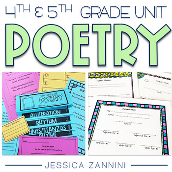 Poetry Unit - Fourth and Fifth Grade  (aligned with Common