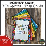 Poetry Unit: How to Write 8 Types of Poems and Task Cards
