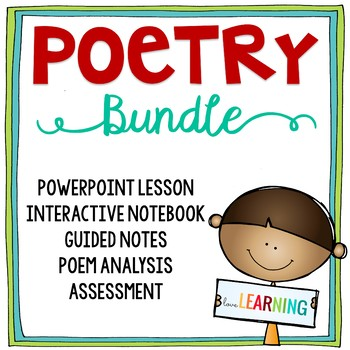 Poetry Unit {Lesson, Student Packet, Worksheet, Quiz}