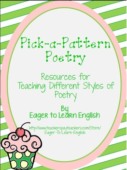 Pick-a-Pattern Poetry Unit - Planning pgs, Vocab Posters,