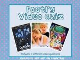 Poetry Video Quiz