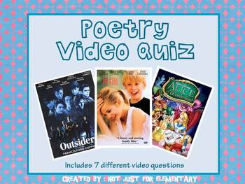 Poetry Video Quiz