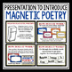 POETRY WRITING: MAGNETIC POETRY