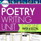 Poetry Writing Unit:  11-Day Engaging Poetry Study and Wri
