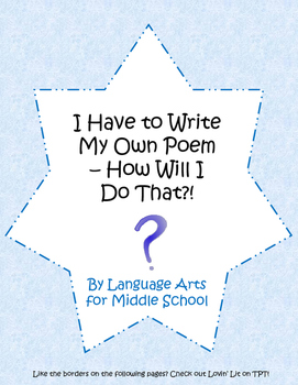 Poetry Writing for Middle Schoolers