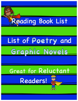 Poetry and Graphic Novel Book List - Mixed Levels