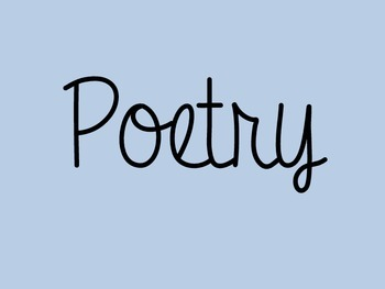 Poetry definitions and practice
