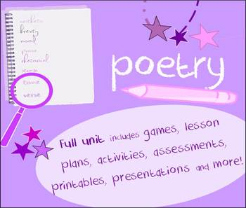Poetry unit-sound, figurative language, structure-writing,