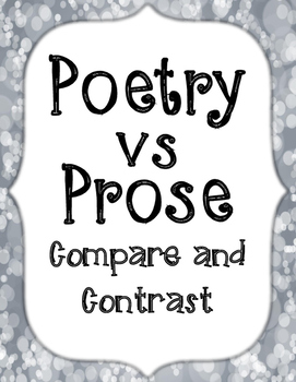 Poetry vs Prose