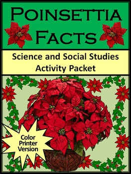 Poinsettia Activities: Poinsettia Facts... by Ann Dickerson ...
