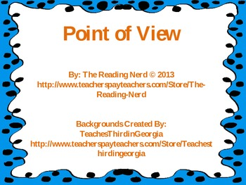 Point Of View Explanations and Examples (First, Second, Th