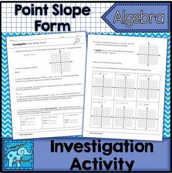 Point Slope Form Investigation Activity and Notes
