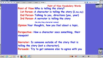 Point of View Flipchart/Whiteboard activity