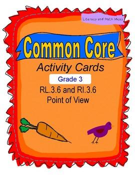 Point of View Grade Common Core RL.3.6 & RI.3.6
