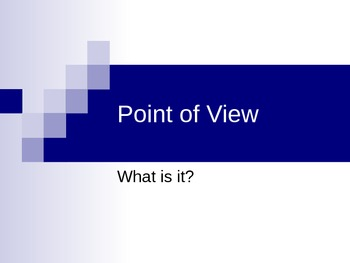 Point of View Instructional Power Point