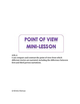 Point of View Mini-Lesson