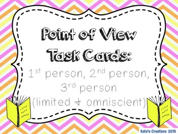 Point of View Task Cards (1st person/2nd person/3rd person