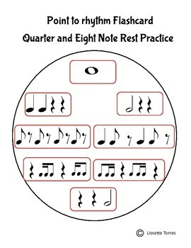 Point to Rhythm Flash Card-Quarter and Eight Note Res Practice