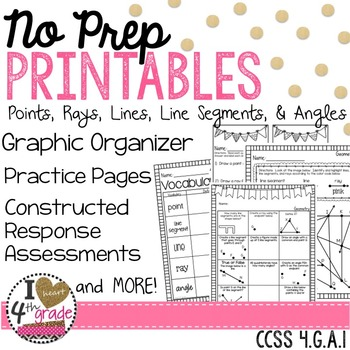Points, Lines, Line Segments, Rays and Angles CCSS 4.G.A.1