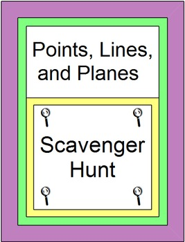 Points, Lines, and Planes - Scavenger Hunt (20 problems)