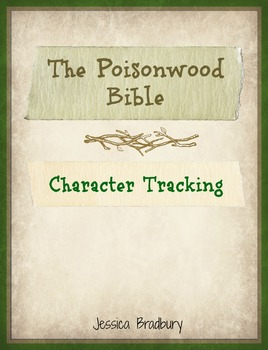 Poisonwood Bible Character Tracking
