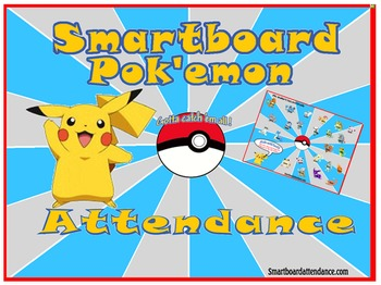 Pok'emon Smartboard Attendance  with or without lunch count !