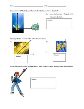 Poke-Angles Worksheet