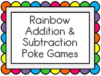 Poke Game (Addition & Subtraction)