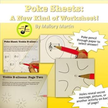 Poke Sheet: Treble B-alloons! (Poke Holes Through Your Pap