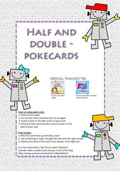 Pokecards - robots: half and double up to 100