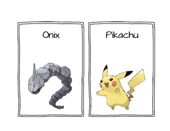 Pokemon alphabet posters/cards