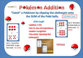 """Pokémon ADDITION- """"Catch"""" the Poké Balls with a Clothespin"""