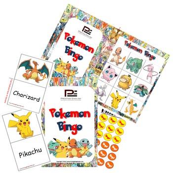 Pokemon Bingo Game for Kids