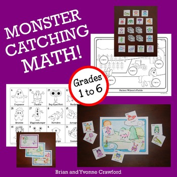 Pokemon GO Inspired Monster Catching Math Bundle 1st grade