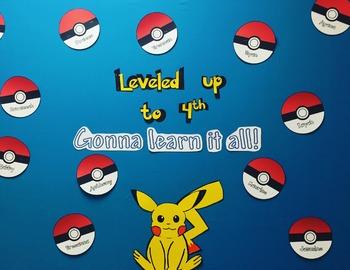 Pokemon Go Back To School Bulletin Board